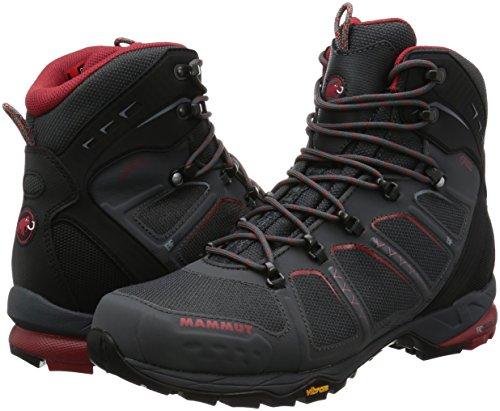 Mammut Chaussure T aenergy High GTX Homme Graphite/Lava–Bottes de montagne, homme gris