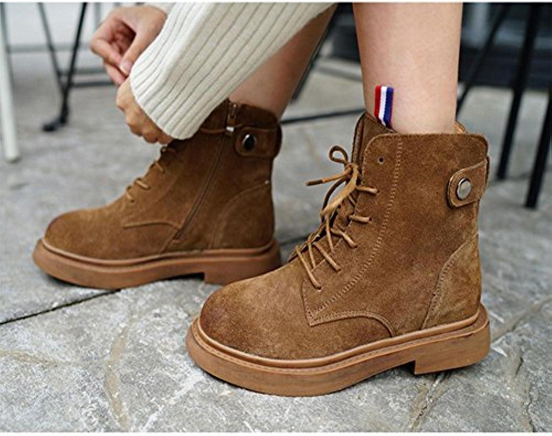 Stivali termici da donna Frossodo confortevole smerigliato Stivali casual invernali , 36 | Elegante e solenne  | Uomo/Donne Scarpa