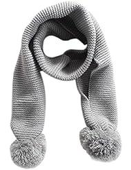 Tongshi Bebé del invierno del cuello caliente del color sólido de la bufanda de la muchacha del muchacho bufanda de punto(gris)