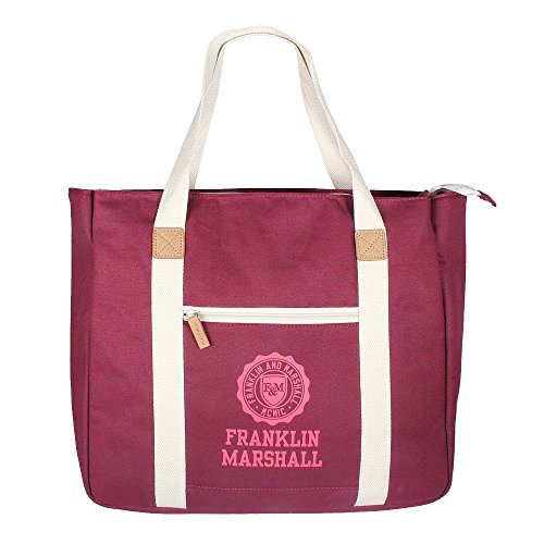 franklin-marshall-shopper-bordeaux-solid