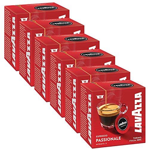 Lavazza A Modo Mio Espresso Passionale 96 Pods for Capsule Coffee Machine, Dark