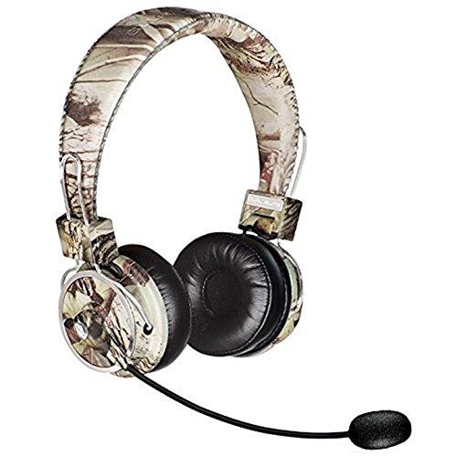 Blue Tiger Dual Elite Wireless Bluetooth Headset - Premium Noise Cancelling Kopfhörer ohne Kabel - ideales Fahren, Gaming und Musik Zubehör - 50 Stunden Sprechzeit, Camouflage - Elite Gaming-headset