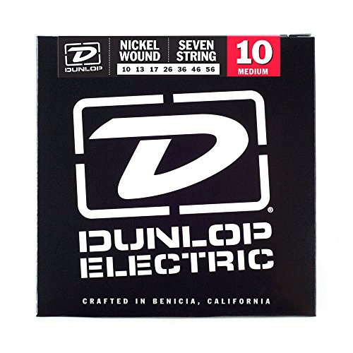 Jim Dunlop DEN1056 - Set di 7 corde in acciaio placcato nichel per chitarra elettrica - Nichel 7 String Chitarra
