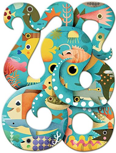 Djeco Puzzle Art Octopus 350 Teile, Mehrfarbig (DJ07651)