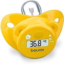 Beurer BY-20 - Chupete-termómetro en forma de osito, color amarillo