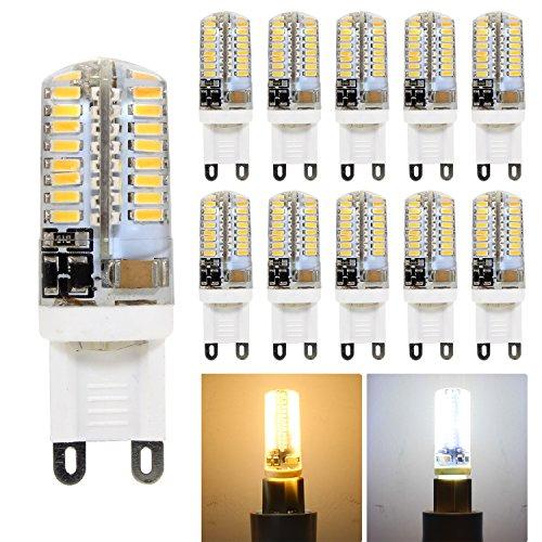 hibay G93W LED Spot Birnen Silikon 240lm AC 220–240V Warm Weiß 2800–3200K nicht dimmbar entspricht 25W 360Grad 15,5x 50mm 10Stück Einheiten (Ac-einheit)