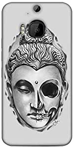 Snoogg Buddha The Creator Designer Protective Back Case Cover For HTC M9 Plus