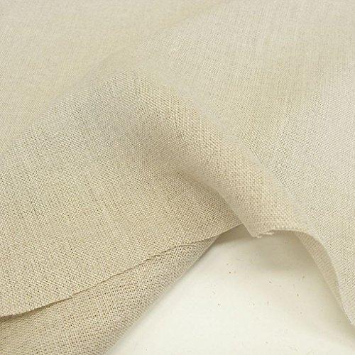 Leinen Rustikal Vorhänge (unbehandelter Leinen Stoff als Meterware, blickdichter Naturstoff für Bekleidung, Gewänder, Vorhänge und Deko - natur beige)