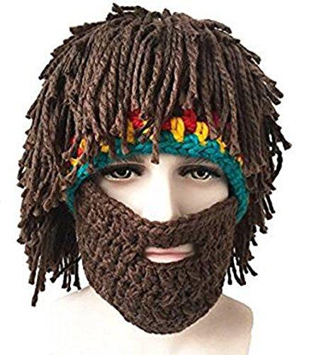 Kostüme Mit Bart (Da.Wa 1 Stück Vagabond Bild Lustige Hüte Wintermütze mit Bart für Eine)