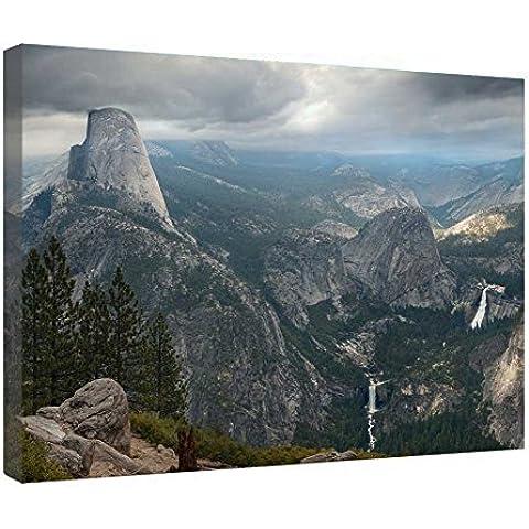 LeeQueen Las Impresiones Sobre Lona Arte de la Pared - Parque Nacional de Yosemite - Antecedentes Consejo de Madera Estirada Abrigo de la Lona Listo Para Colgar Para el Hogar y la Decoración de la Oficina - 24