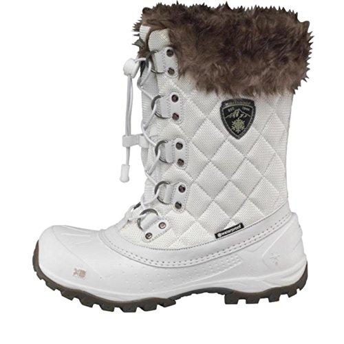 Weiß/Grau Karrimor Damen Alaska Wasserdichte Schneestiefel Weiß - 8 UK 8 EUR 42 (Slouch Schnallen-knie-boot)