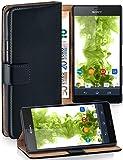 MoEx® Étui Folio à Support vidéo Compatible Sony Xperia Z3 | Fente pour Argent/Cartes, Noir