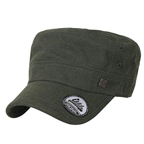 ililily breites und Ausmaß Solid Farbe Freizeitkleidung Militär Armee Hut klassischer Stil Kadett Cap , Olive Green (Olive Hut Militär)