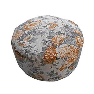 """Kissen Zafú """"Roses"""" – Meditationskissen – Yogakissen (32cm Durchmesser x 16cm hoch) – 100% Baumwolle und Buchweizenschale – Kissenhülle waschbar – exklusives Design"""