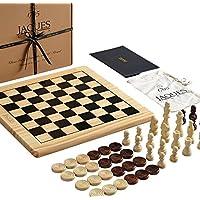 Jaques-of-London-Schachspiel-mit-Board-Inc-Schachfiguren-Schach-und-Dame-Sets-mit-Brett-Perfekte-Holz-Schachspiel-fr-Kinder-Jeden-Alters-Ihre-Kinder-mit-Liebe-Dieses-schne-Set Jaques of London Schachspiel mit Board Inc. Entwürfe – EIN Schachspiel mit Schachbrett – Perfektes Holzschachspiel für Kinder Aller Altersgruppen – Ihre Kinder Werden Dieses schöne Set lieben - Start -
