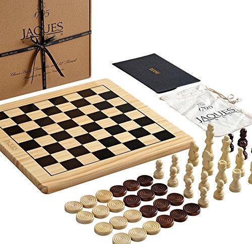 Jaques-of-London-Schachspiel-mit-Board-Inc-Schachfiguren-Schach-und-Dame-Sets-mit-Brett-Perfekte-Holz-Schachspiel-fr-Kinder-Jeden-Alters-Ihre-Kinder-mit-Liebe-Dieses-schne-Set Jaques of London Schachspiel mit Board Inc. Entwürfe – EIN Schachspiel mit Schachbrett – Perfektes Holzschachspiel für Kinder Aller Altersgruppen – Ihre Kinder Werden Dieses schöne Set lieben -