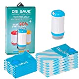 Dr. Save Handheld Vacuum Storage Bags with Sealer – Pack More into Your