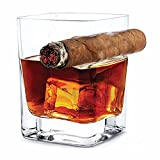 Whiskey Glas mit Zigarrenetui, alte Wein Bourbon Brandy Bier Whisky Cup Fashion 14oz 320ml FREIHÄNDIGER für Zigarre Zigarette Lovers für Zuhause und Bar