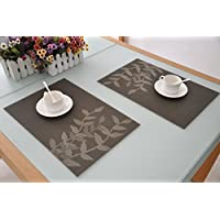 Set di tovagliette in PVC resistente al calore, eleganti, decorative,