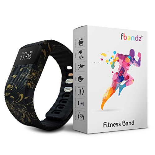fbandz TM Ethinic64 Fitness Band Smart Health Bracelet Bluetooth Wristband Fashionable Military Tracker