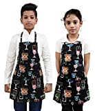#6: Switchon Waterproof Kids Cotton Lycra Printed Apron for Multi Purpose Cooking Painting and School Apron with Front Pocket Pack of 2 Apron