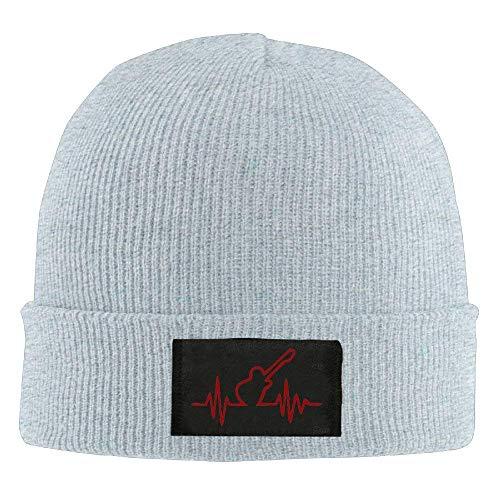 Preisvergleich Produktbild MLNHY Guitar Heart Beat Unisex Knitting Skull Cap Wool Warm Beanie Hat
