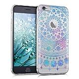 kwmobile Apple iPhone 6 / 6S Hülle - Handyhülle für Apple iPhone 6 / 6S - Handy Case in Blau Pink Transparent