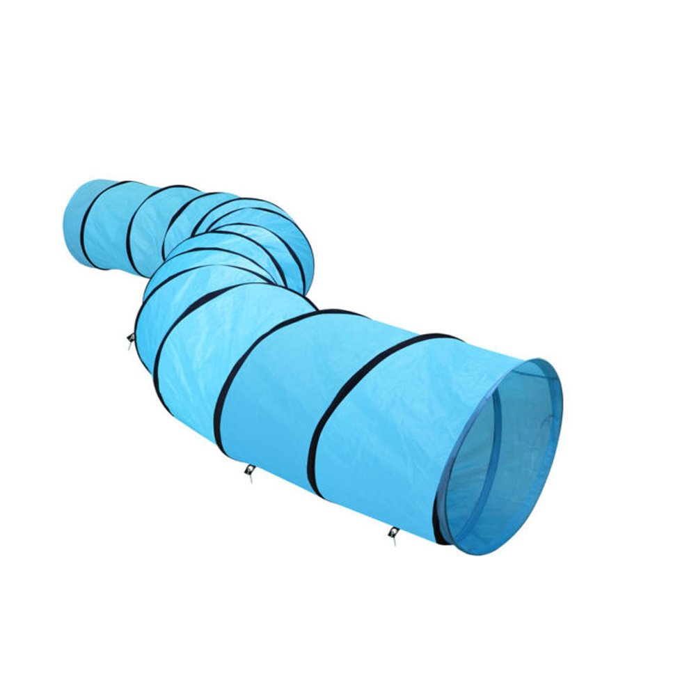 SavingPlus Pet Tunnel Puppy Dog Agility Training 5.25M Outdoor Run Exercise Playing Blue