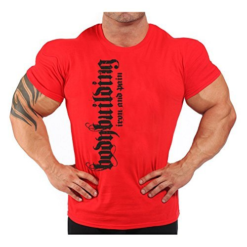 Image of Mens Iron & Pain T-Shirt Red XXL