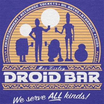 TEXLAB - Droid Bar - Herren T-Shirt Marine