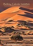 Calendrier d'anniversaire onirique 'NAMIBIA' avec photos des grands paysages et de la faune de Namibie, perpétuel (12 pages | A4, 29.7x21 cm)