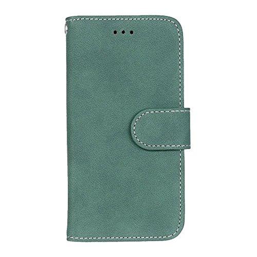 iPhone Case Cover Étui IPhone 6 6S, couleur unie Housse en cuir PU de qualité supérieure Housse étui givré pour portefeuille avec porte-cartes Cadre photo pour Apple IPhone 6 6S ( Color : 1 , Size : A 4