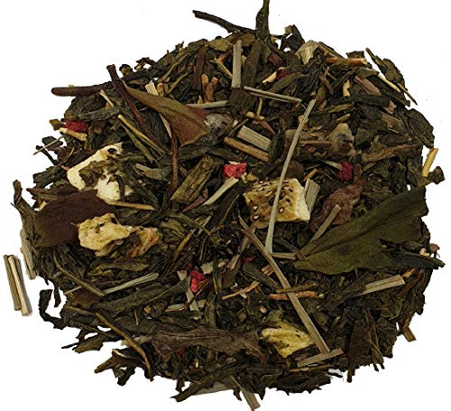 Simpli-Special Pomegranate Dragon Fruit Premium Green & White Loose Leaf Tea Blend for Hot and Iced Tea (100g in Resealable Pouch)