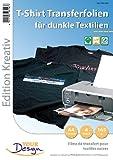 Your Design T Shirt Druck Folien: 4 T-Shirt Transferfolien für bunte Textilien A4 Inkjet (Bügeltransferfolie)