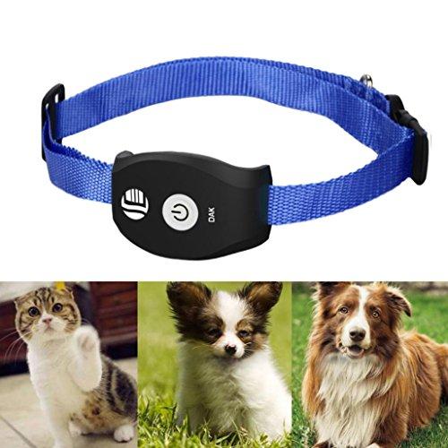 SO-buts GPS-Tracking-Finder/Pet Echtzeit GPS Tracker/GSM Locator System für Katzen und Hunde Frei App Mobile Hund Katze (Schwarz)
