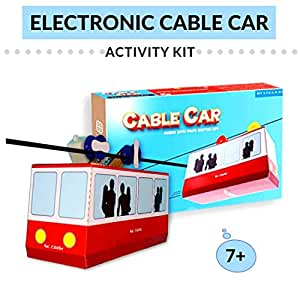 Be Cre8v Make Your Own Electronic Cable Car Kit for Children