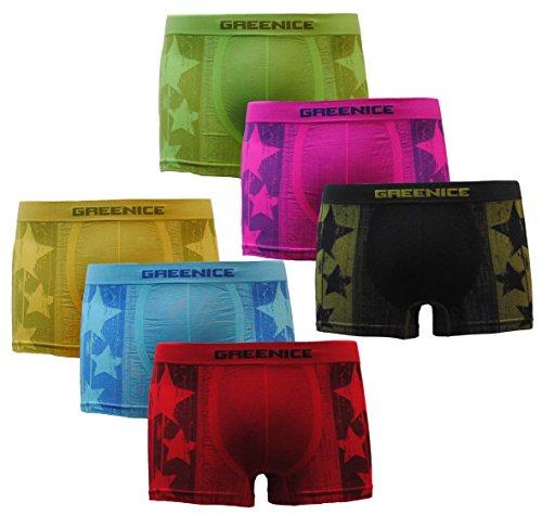 GP Herren Sport 6er Pack Boxershorts Seamless Retroshorts Mehrfarbig
