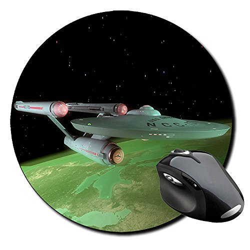 Preisvergleich Produktbild Star Trek USS Enterprise NCC-1701 H Mauspad Round Mousepad PC