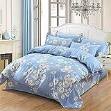 Huichao Baumwoll-24-teilige Baumwollbettverpackung 1,8m Bettdecke Deckel Blätter dreiteilig,Blue