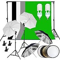 Kit de Iluminación Continua para Fotógrafos Set de Fondo de Paraguas - 4 Paraguas + 1.6