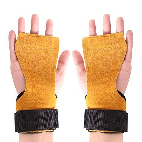 SKDK Trainingshandschuh, Silikon Rutschfeste Handfläche, Schützt Hände vor Rissen, Schwielen, ideal für Kraft-Sport und Turn-Übungen sowie Cross-Training