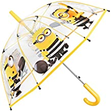 Paraguas Mi Villano Favorito Niño - Estampado Bob Kevin Stuart - Paraguas Minions Transparente de Burbuja