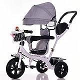 BZEI-BIKE Dreirad Kinderwagen Fahrrad Kind Spielzeug Trolley Titan Rad/Schaum Rad Fahrrad 3 Räder, drehbare Sitz (Junge/Mädchen, 1-3-5 Jahre Alt) Kinderspielzeug (Farbe : A Type)