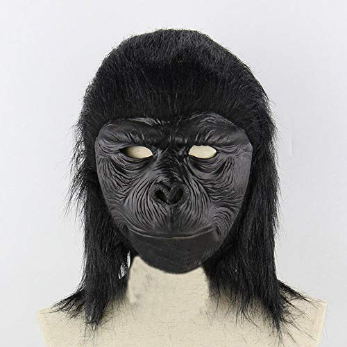 Circlefly Schimpanse Halloween Perücke Latex lustige beängstigend tiermaske Kinder Maske