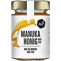 nu3 Miel de Manuka - Miel pura 100% original de Nueva Zelanda - Tarro de vidrio con 250g 400+ MGO - Centrifugada en frío para preservar los nutrientes naturales – Producto original ecológico