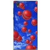 Es regnet Cricketbälle Hartschalenhülle Telefonhülle zum Aufstecken für Sony Xperia L1 (G3311)
