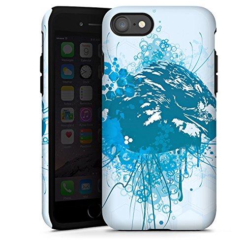Apple iPhone X Silikon Hülle Case Schutzhülle Adler Greif Vogel Tough Case glänzend
