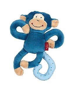 Sigikid 42169Textil con Mono de Peluche, Color Azul, 17x 5x 8cm