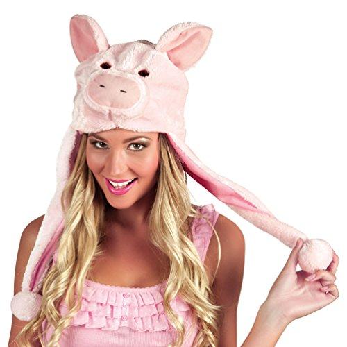 ,Karneval Klamotten' Kostüm Mütze Schweinchen Zubehör Karneval (Hüte Tier Erwachsene)
