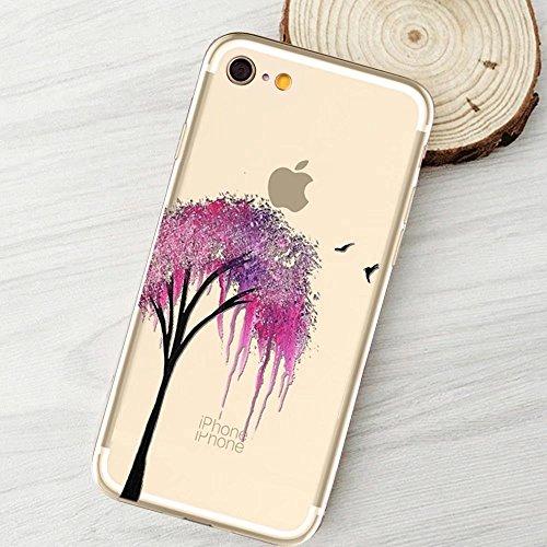 MOMDAD iPhone 6S Plus Coque iPhone 6S Plus 5.5 Pouces Housse Etui Anti chocs Back Cover Bumper Case Anti Scratch Shock Absorption pour iPhone 6 Plus/ 6S Plus 5.5 Pouces Transparente Coque TPU Souple C Art tree-10